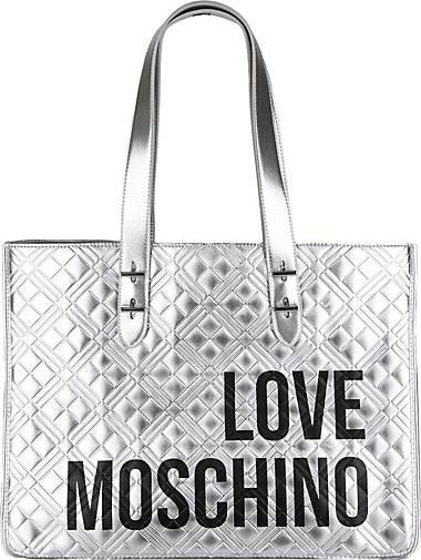 Love Moschino Shopper in glänzendem Silber
