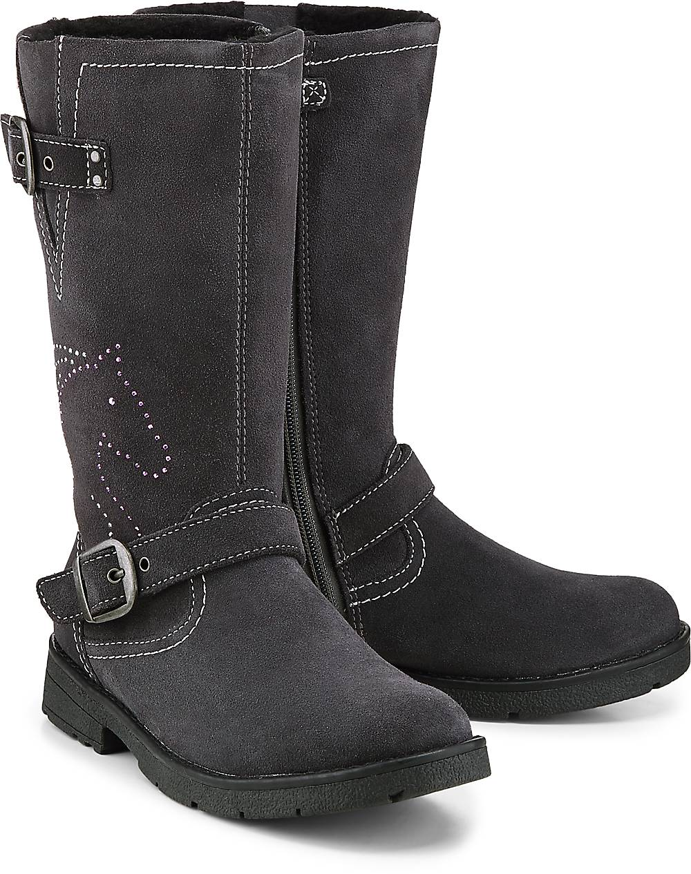 Lurchi, Stiefel Heidi-Tex in dunkelgrau, Stiefel für Mädchen