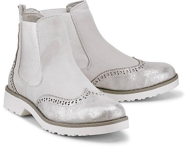 Neu Marco Tozzi SilberGrau Oxfords Schuhe Damen Auf Verkauf