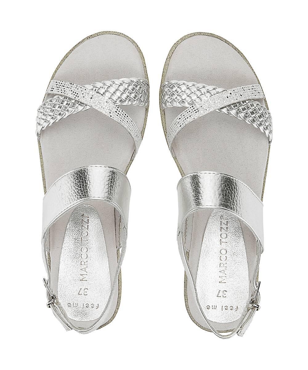 Marco Tozzi Metallic-sandalette In Silber Kaufen Riemchensandalen