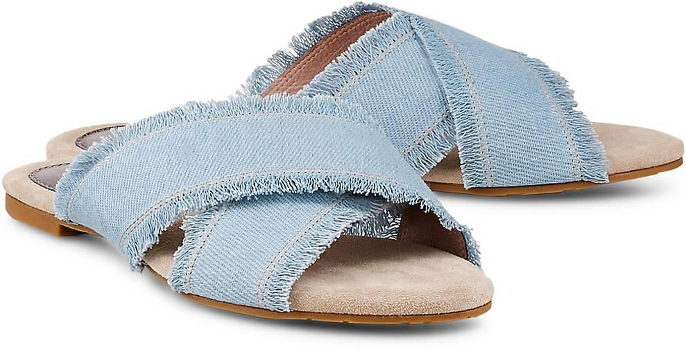 Damen Pantolette Blau Pantolette Blau hell hell Damen r7q4PnxrwS