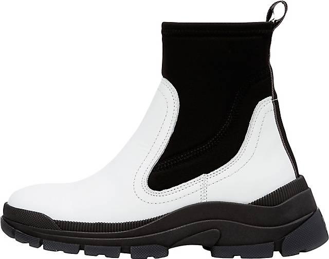 Marc O'Polo Chelsea-Boots aus Rindleder-Neopren-Mix