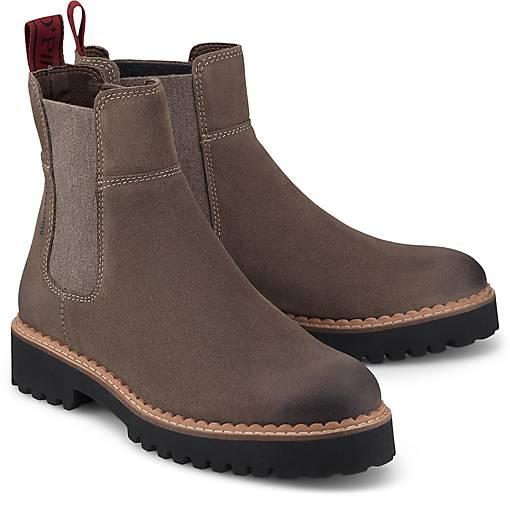 Marc O'Polo – Chelsea Boots aus Leder mit Plateausohle – Schwarz