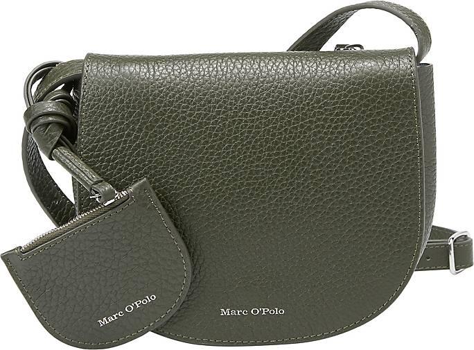 Marc O'Polo Crossbody-Bag aus genarbtem Rindsleder