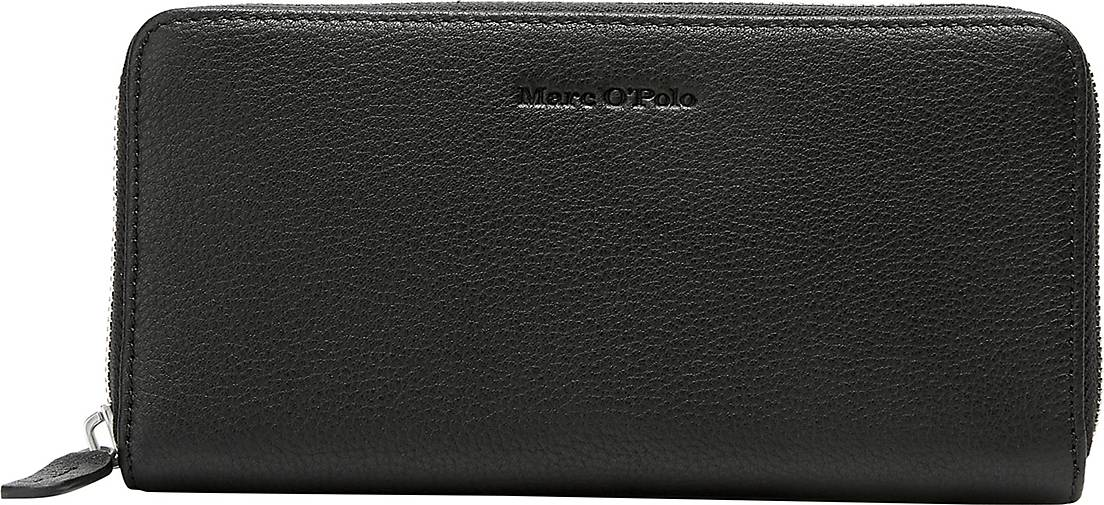 Marc O'Polo Zipper-Geldbörse aus hochwertiger Leder-Qualität