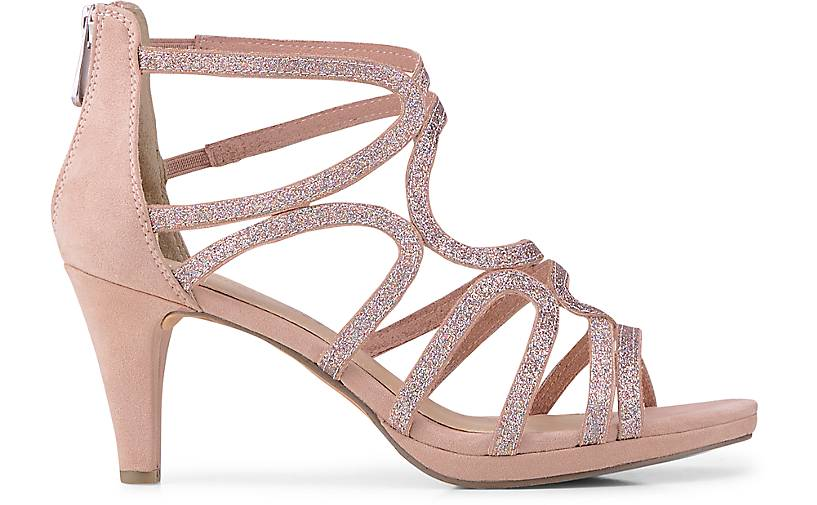 Marco Tozzi Glitzer-Sandalette in Rosa kaufen - 46575804 46575804 - GÖRTZ Gute Qualität beliebte Schuhe 2197fa