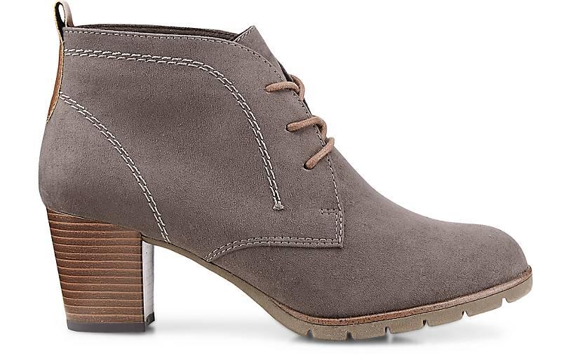 Marco Tozzi Schnür-Stiefelette in taupe kaufen Gute - 46774603 | GÖRTZ Gute kaufen Qualität beliebte Schuhe 48621a