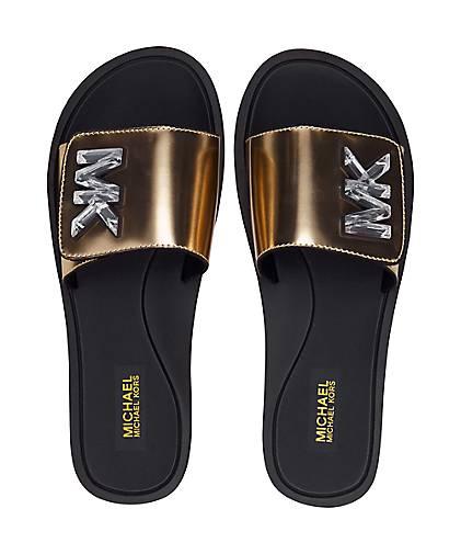 071207caaf5 Michael Kors Sandale MK SLIDE in gold kaufen - 48001702 | GÖRTZ