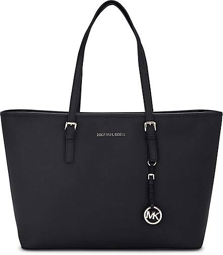 michael kors tasche jet set travel shopper schwarz. Black Bedroom Furniture Sets. Home Design Ideas