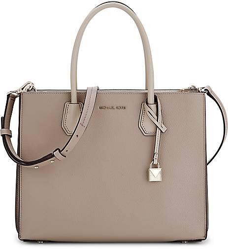michael kors tasche mercer large in taupe hell kaufen. Black Bedroom Furniture Sets. Home Design Ideas