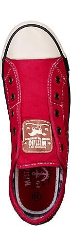 Mustang Canvas-Slip-On in in in rot kaufen - 41241504 GÖRTZ Gute Qualität beliebte Schuhe b4675e