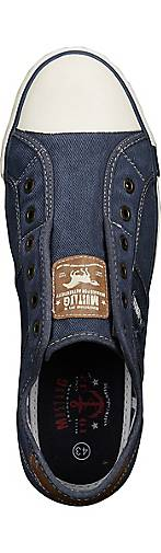 Mustang Canvas-Sneaker in blau-mittel blau-mittel blau-mittel kaufen - 44012502 | GÖRTZ Gute Qualität beliebte Schuhe 99bb8c