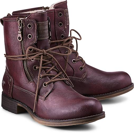 Mustang Schnür-Stiefel in bordeaux kaufen kaufen kaufen - 46537701 | GÖRTZ Gute Qualität beliebte Schuhe 2cab73