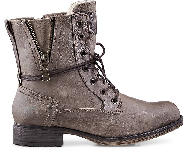 Mustang - Schnür-Boots in taupe kaufen - Mustang 46543801 | GÖRTZ a7fc91