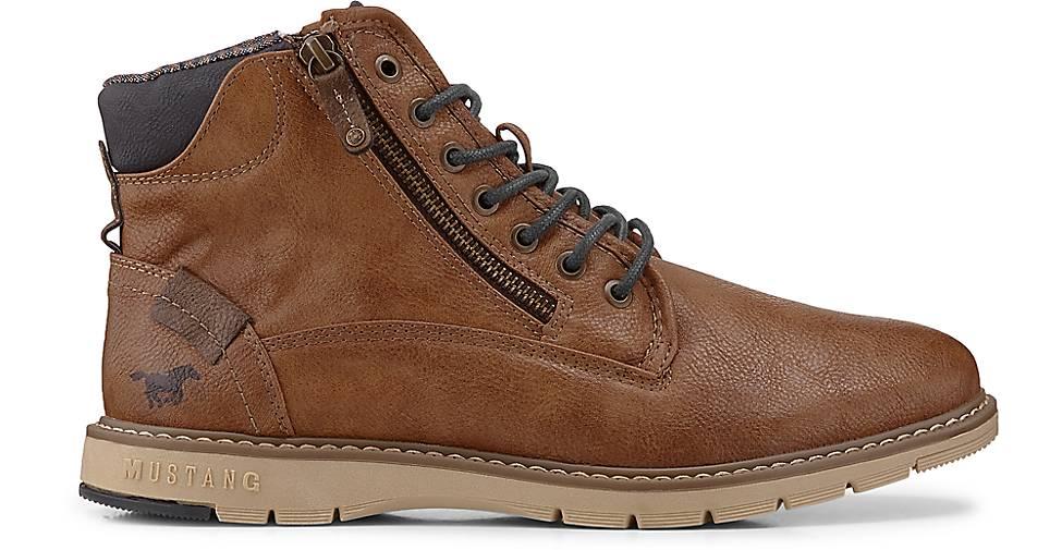 Mustang - Schnür-Stiefelette in braun-mittel kaufen - Mustang 47587402 | GÖRTZ Gute Qualität beliebte Schuhe a82626