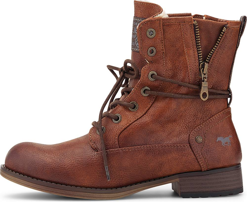 Mustang  Winter-Stiefelette in mittelbraun  Stiefeletten für Damen   Schuhe > Stiefeletten   mustang