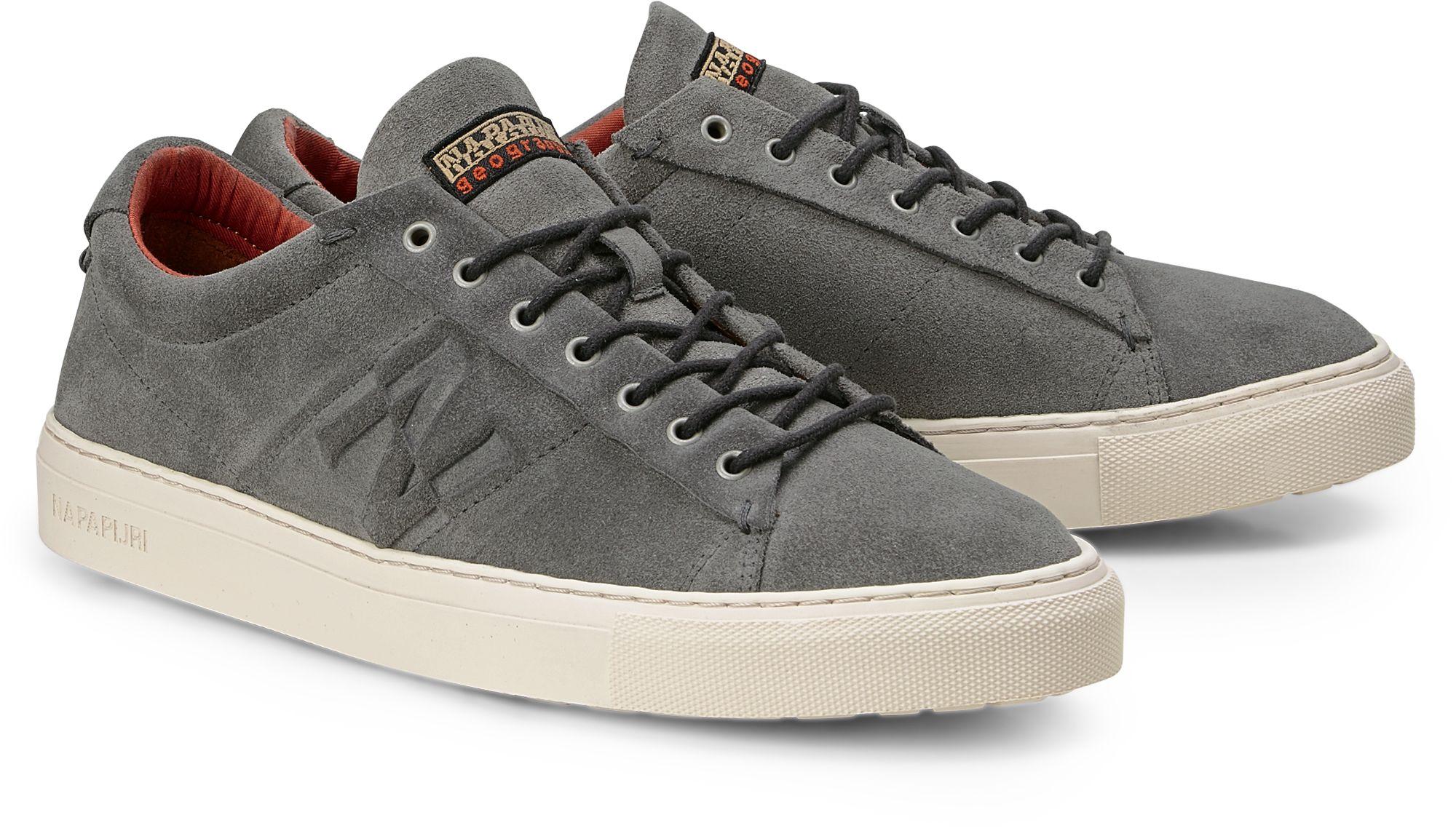 017565d0701a63 Leder Sneaker BEVER von Napapijri in grau dunkel für Herren. Gr.  41