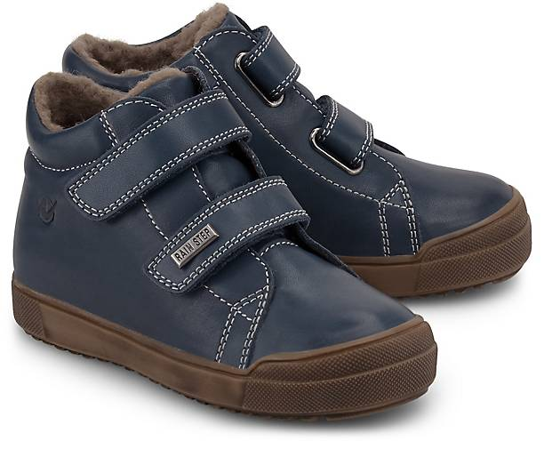 25-32 Neu Naturino Mulaz Winter Sneaker Leder Wolle wasserdicht Klett blau Gr