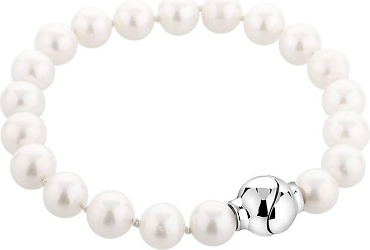 Nenalina Armband Zuchtperle Perle Magnet Verschluß 925 Silber