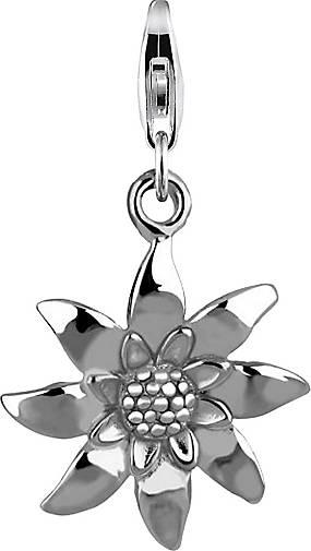 Nenalina Charm Anhänger Edelweiss Blume Wiesn 925 Sterling Silber