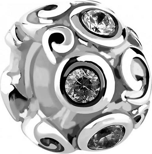 Nenalina Charm Bead Silberanhänger Zirkonia Kristalle 925 Silber
