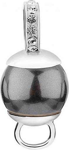 Nenalina Charm Charmträger Synthetische Perle 925 Silber