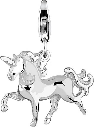 Nenalina Charm Einhorn-Anhänger Unicorn Magic 925 Sterling Silber