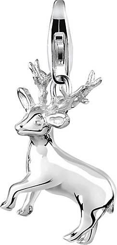 Nenalina Charm Hirsch Natur Tierfreund Wiesn 925 Sterling Silber