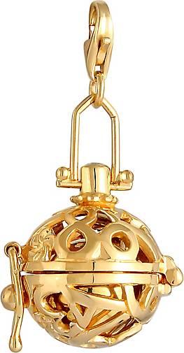 Nenalina Charm Klangkugel Ornament Zirkonia 925 Sterling Silber