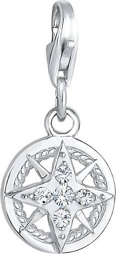 Nenalina Charm Kompass Maritim Kristalle 925 Silber