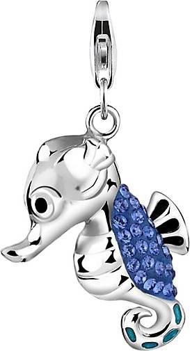 Nenalina Charm Seepferdchen Kristalle 925 Silber