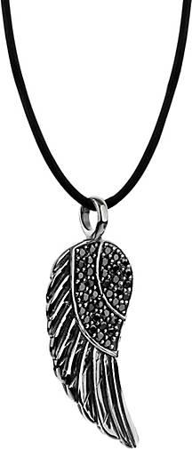 Nenalina Halskette Flügel Anhänger Kristalle 925 Silber