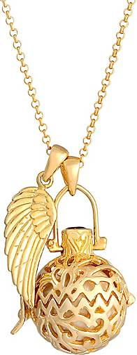Nenalina Halskette Flügel Engelsflüsterer Granat (16 mm) 925 Silber