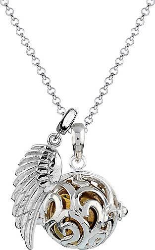 Nenalina Halskette Flügel Ornament Engelsflüsterer (17 mm) 925 Silber