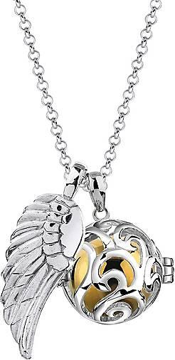 Nenalina Halskette Flügel Ornament Engelsflüsterer (25 mm) 925 Silber
