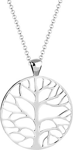 Nenalina Halskette Münze Lebensbaum Anhänger 925 Sterling Silber