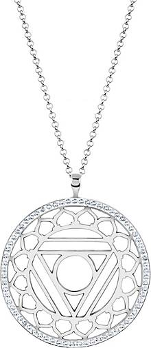 Nenalina Halskette Vishuddha Chakra Kristalle 925 Silber