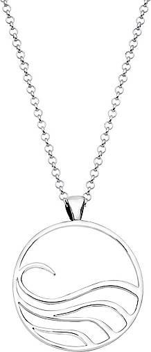 Nenalina Halskette Wellen Symbol Anhänger Maritim Trend 925 Silber