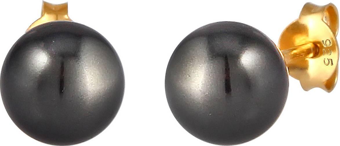 Nenalina Ohrringe Basic Perlen Swarovski® Kristalle 925 Silber