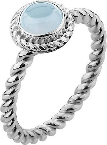 Nenalina Ring Aquamarine Geburtsstein März Boho 925 Silber