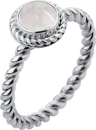 Nenalina Ring Mondstein Geburtsstein Juni Boho Trend 925 Silber