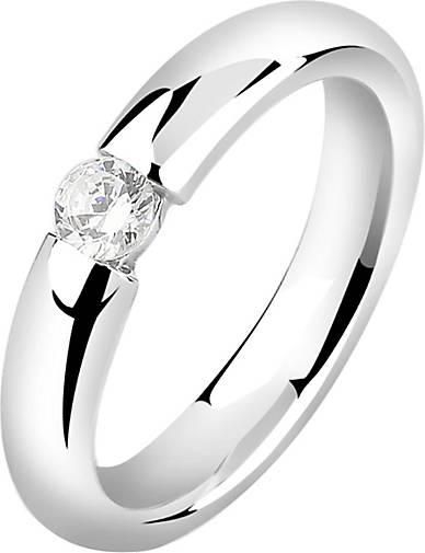 Nenalina Ring Solitär Zirkonia Kristall Verlobung 925 Silber