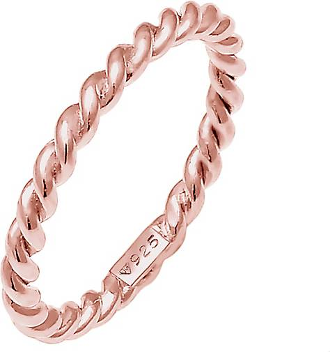 Nenalina Ring Twisted Gedreht Basic Schlicht 925 Sterling Silber
