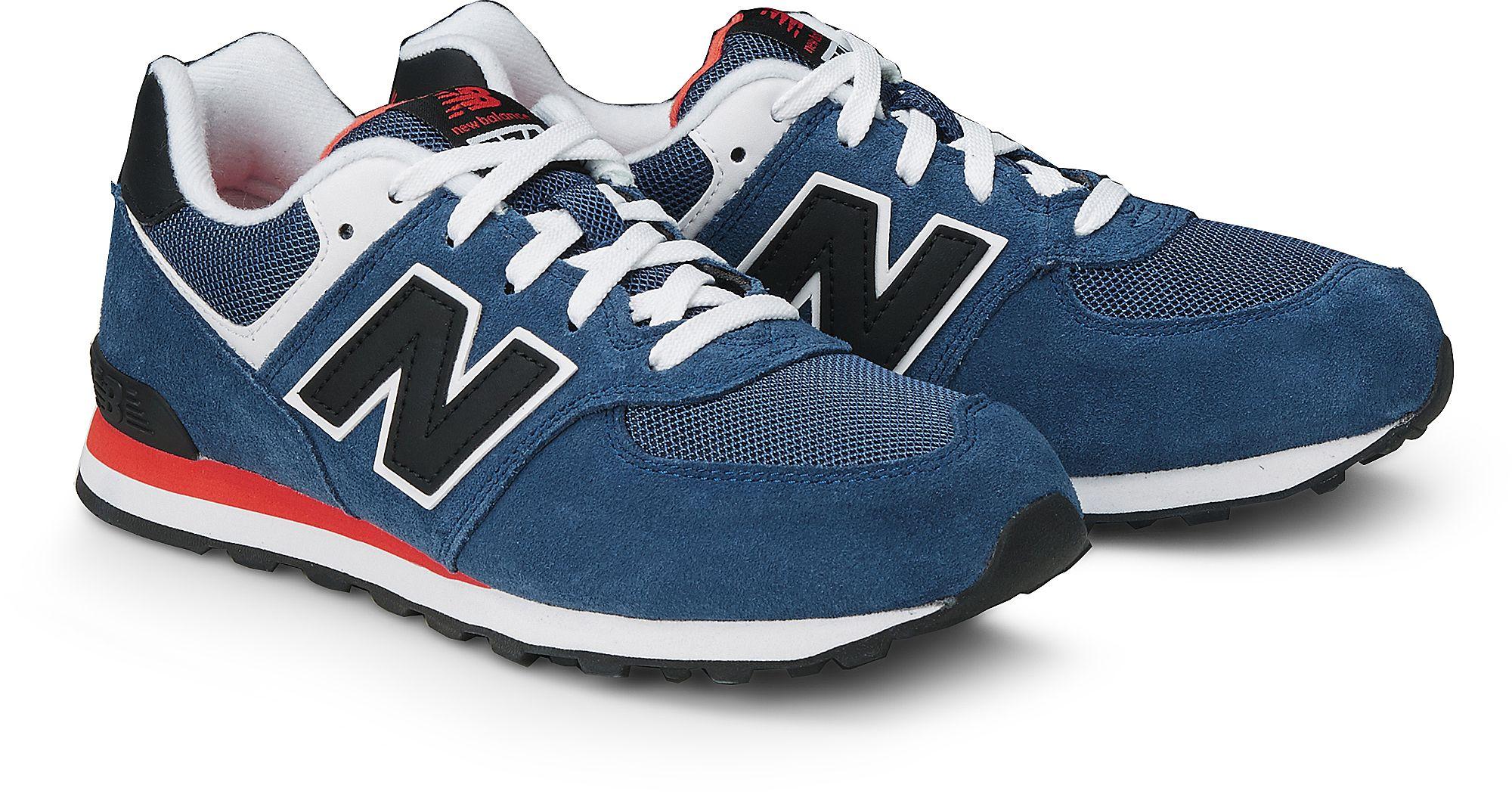 Retro Sneaker 574 von New Balance in blau mittel für Jungen