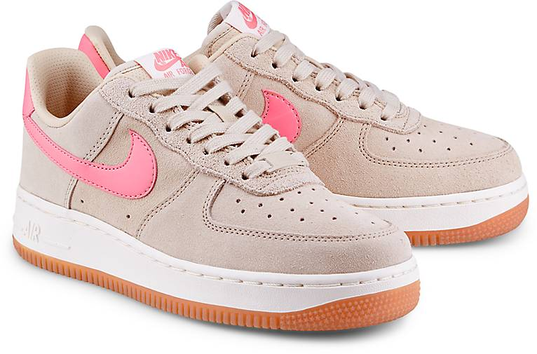 Nike Air Force Beige Leder