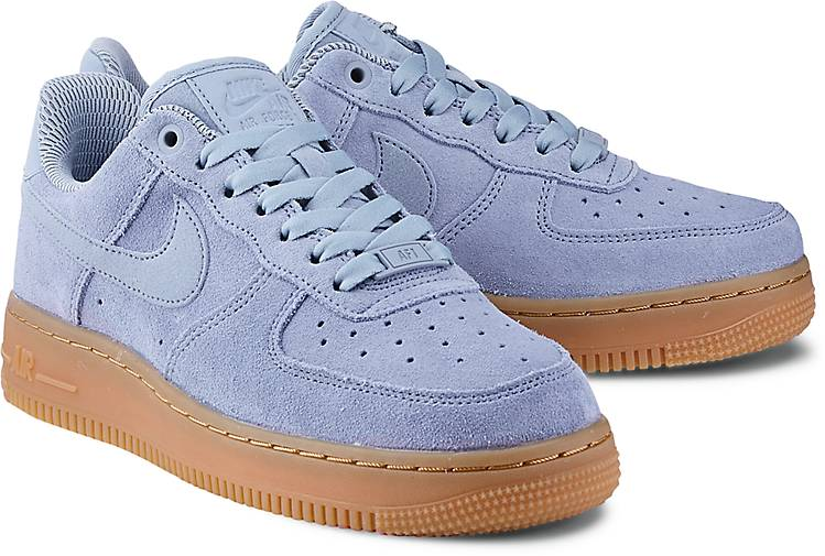 nike sneaker air force one sneaker low blau hell g rtz. Black Bedroom Furniture Sets. Home Design Ideas