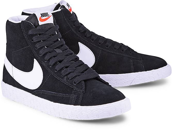 sneaker blazer mid von nike in schwarz f r damen gr 37 5. Black Bedroom Furniture Sets. Home Design Ideas