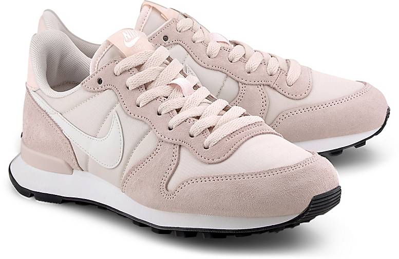 sneaker low materialmix leder rosa
