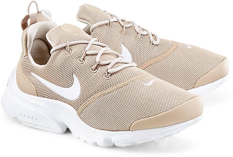 Nike Damen Presto Fly Beige Textil Sneaker