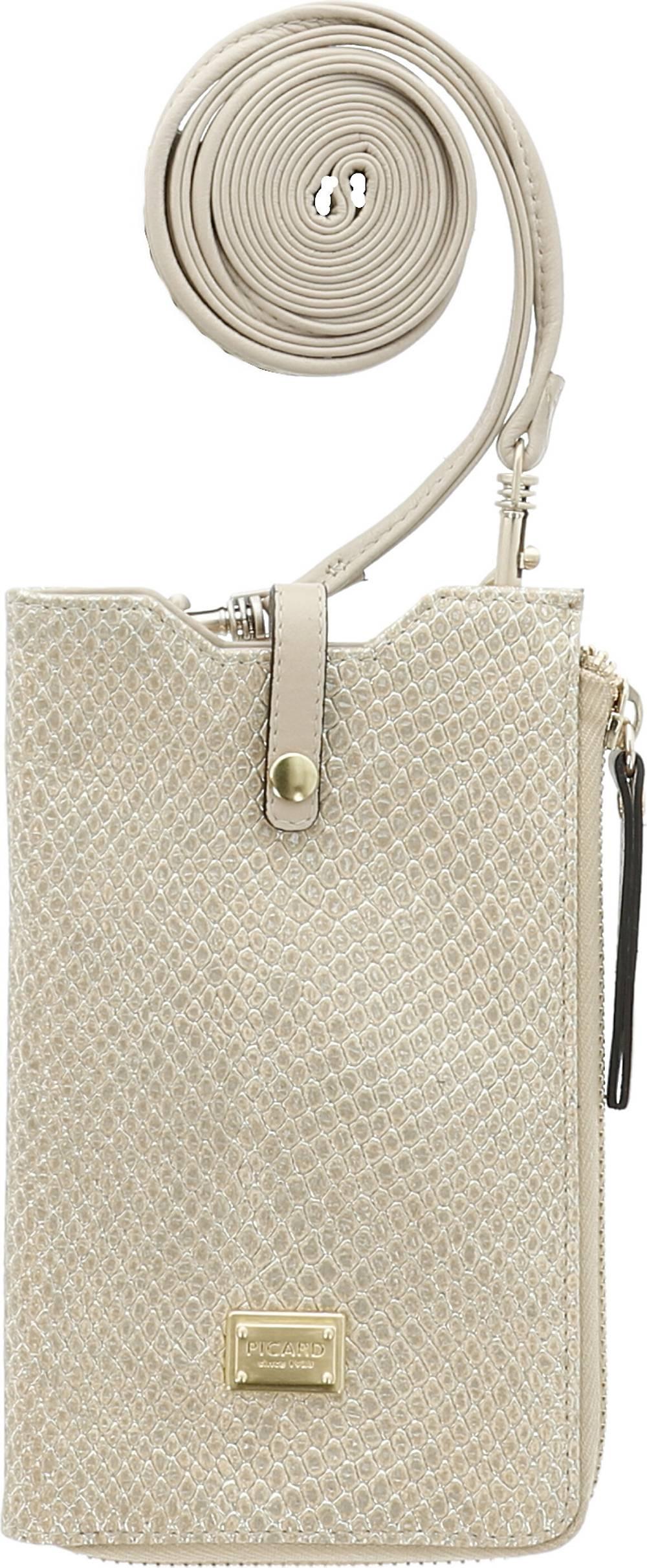 PICARD, Borneo 1 Handytasche Leder 10 Cm in beige, Handyhüllen & Zubehör für Damen